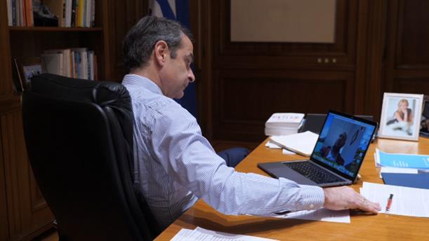 Τηλεδιάσκεψη του Πρωθυπουργού με τον Νίκο Παπαευσταθίου