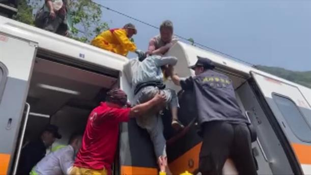 Εκτροχιασμός τρένου στην Ταϊβάν