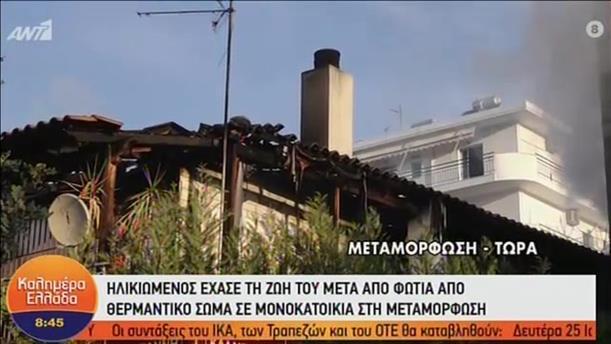 Ο γιος του νεκρού ηλικιωμένου στον ΑΝΤ1 για τη φωτιά στη Μεταμόρφωση