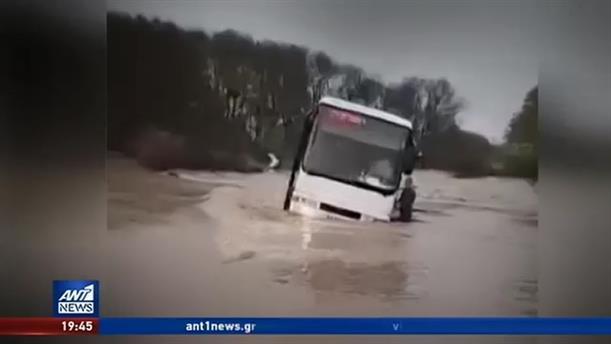 Μεγάλα προβλήματα από τις βροχοπτώσεις σε Καβάλα και Ηλεία