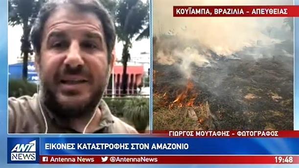 Γιώργος Μουτάφης στον ΑΝΤ1: έργο εμπρηστών πολλές από τις φωτιές στον Αμαζόνιο