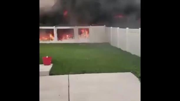 Φωτιά από πυροτεχνήματα στη Γιούτα