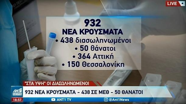 Κορονοϊός: 50 θάνατοι το προηγούμενο 24ωρο στην Ελλάδα