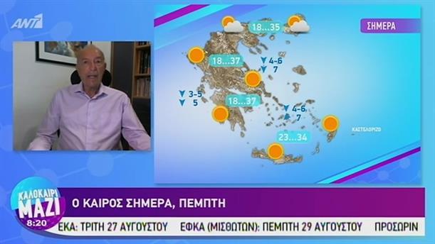 Καιρός - ΚΑΛΟΚΑΙΡΙ ΜΑΖΙ - 29/08/2019