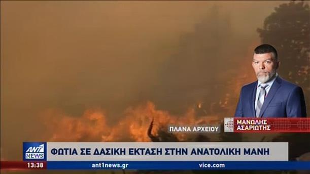Μεγάλη φωτιά στην Μάνη