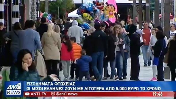 Φτωχότεροι κάθε χρόνο γίνονται οι Έλληνες