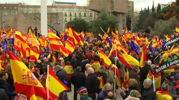 Διαδήλωση κατά των συνομιλιών με την Καταλονία