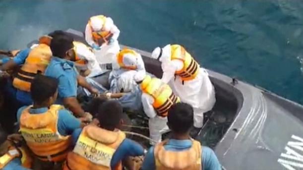 Φωτιά σε δεξαμενόπλοιο στη Σρι Λάνκα