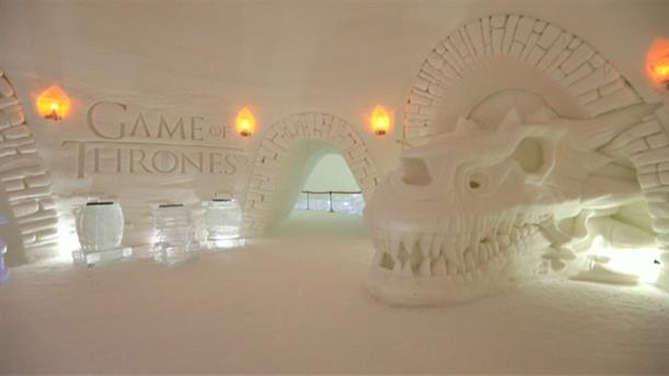 Ξενοδοχείο από πάγο με θέμα Game of Thrones