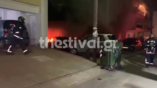 Εμπρηστική επίθεση σε πιλοτή στη Θεσσαλονίκη