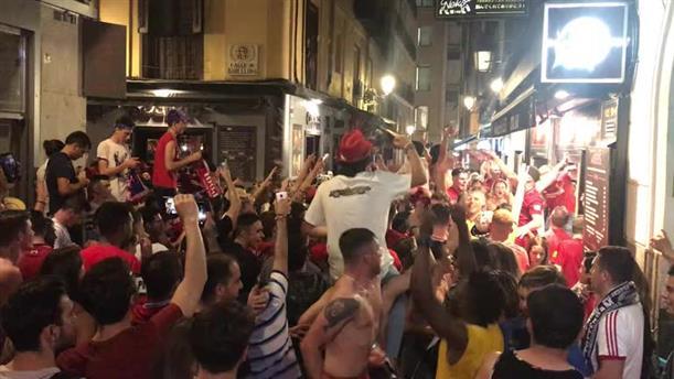 Πάρτι των οπαδών της Λίβερπουλ στη Μαδρίτη