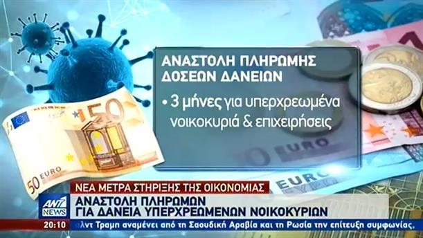 Κορονοϊός: Αναστολή πληρωμών για τα υπερχρεωμένα νοικοκυριά
