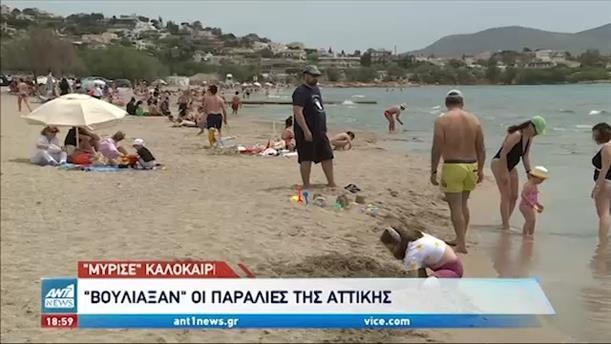 """""""Βούλιαξαν"""" οι παραλίες της Αττικής"""
