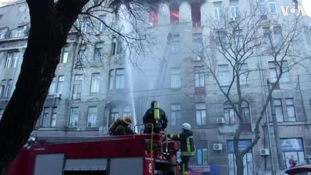 Φωτιά σε φοιτητική εστία σε σχολείο στην Οδησσό