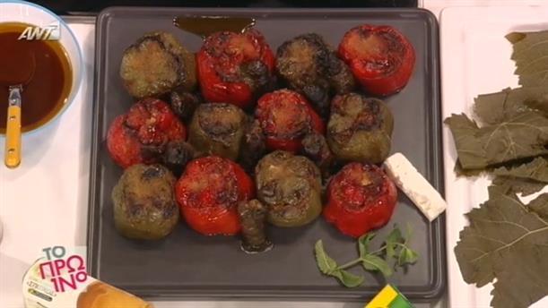 Γεμιστές πιπεριές με κιμά και φέτα