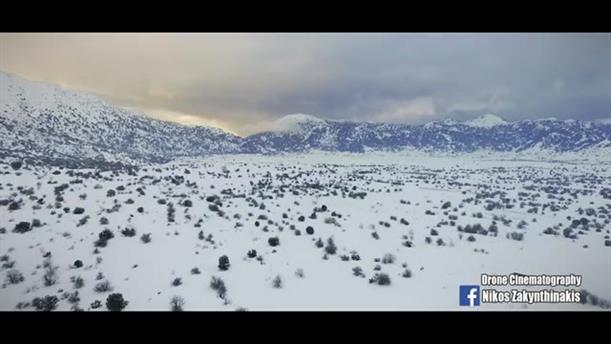 Εντυπωσιακά πλάνα drone από τον κατάλευκο Ομαλό