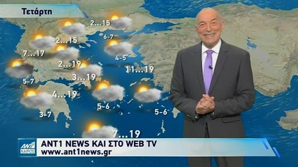 Δελτίο καιρού στις 20:00 – 08/03/2021
