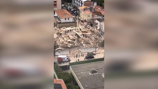 Κατάρρευση πολυκατοικίας στην Βραζιλία