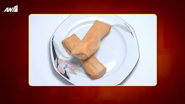 Φλογέρες με παστουρμά και τυρί