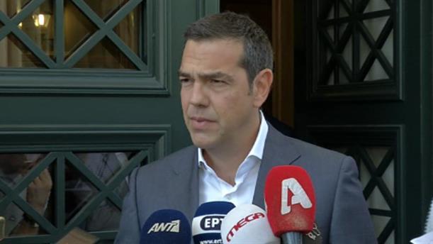Δήλωση Αλέξη Τσίπρα μετά την συνάντησή του με τον Πρωθυπουργό