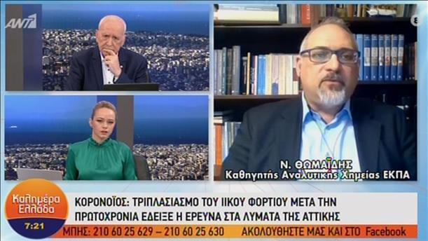Ο Νίκος Θωμαΐδης στην εκπομπή «Καλημέρα Ελλάδα»