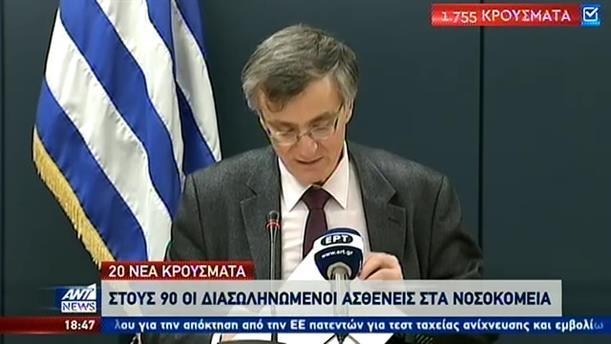 Ήπια άνοδος των κρουσμάτων κορονοϊού στην Ελλάδα.
