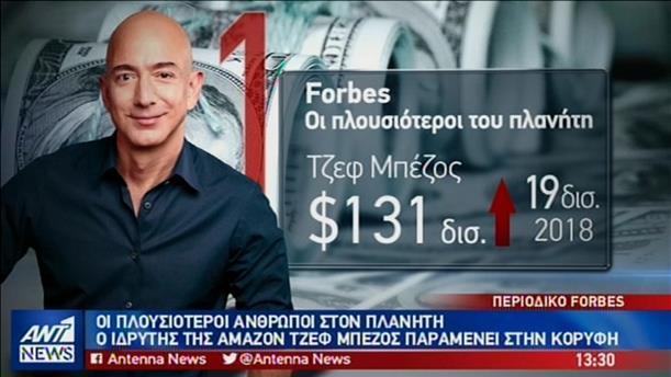 Δημοσιεύθηκε η λίστα του Forbes με τους σύγχρονους κροίσους