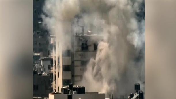 Ισραηλινός πύραυλος χτυπάει κτήριο στη Γάζα