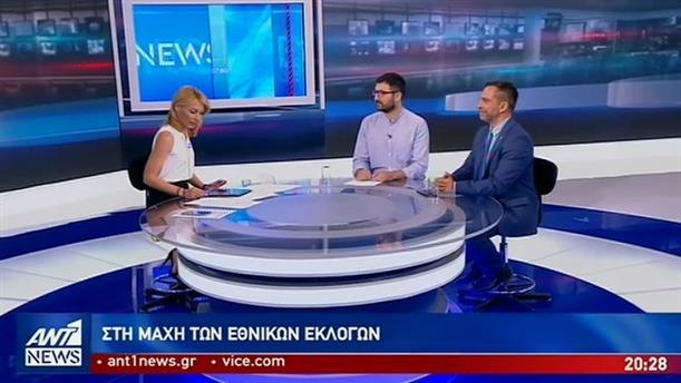 Ηλιόπουλος – Καρύδας στον ΑΝΤ1 για τις εκλογές στις 7 Ιουλίου