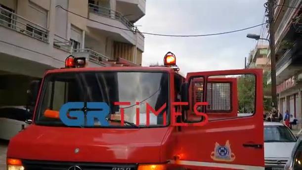 Φωτιά σε σούπερ μάρκετ στη Θεσσαλονίκη