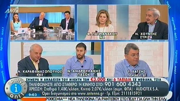 Πρωινό ΑΝΤ1 – Ενημέρωση - 27/06/2014