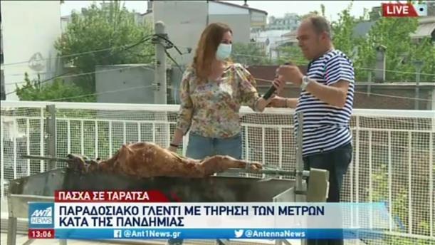 Πάσχα: οι Έλληνες ψήνουν τον οβελία ακόμη και σε ταράτσες!