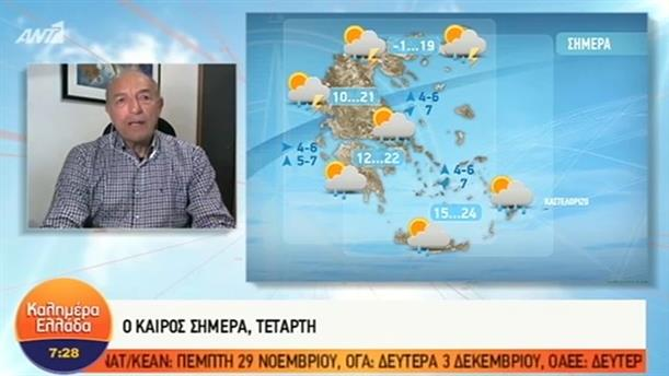 ΚΑΙΡΟΣ – ΚΑΛΗΜΕΡΑ ΕΛΛΑΔΑ - 21/11/2018