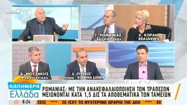 Γ. Ρωμανιάς για την ανακεφαλαιοποίηση των τραπεζών - 24/11/2015
