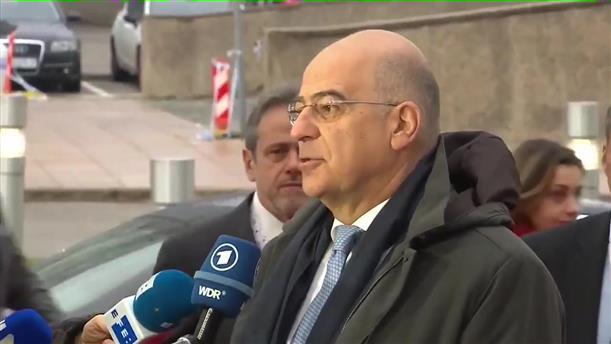 Δήλωση Νικ. Δένδια κατά την άφιξη στο έκτακτο Συμβούλιο Εξωτερικών Υποθέσεων της ΕΕ