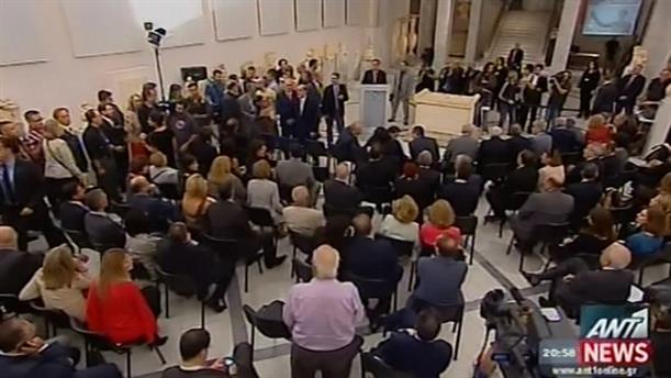 Εκθεση Ελλήνων Καλλιτεχνών εγκαινίασε ο Αντώνης Σαμαράς