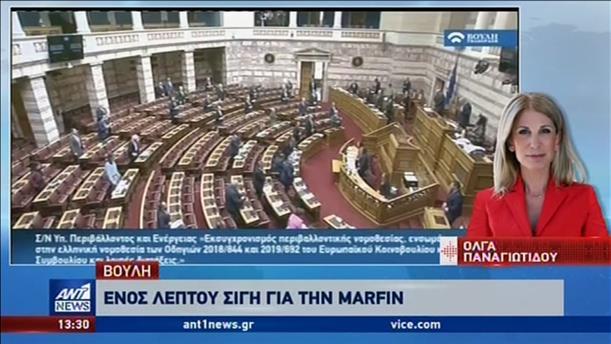 Ενός λεπτού σιγή στην Βουλή για την τραγωδία στην Marfin