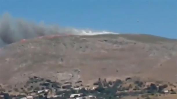 Κρήτη: Φωτιά στο Μουστάκο