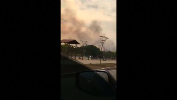 Καπνός έχει καλύψει τον ουρανό στο Σάο Πάολο