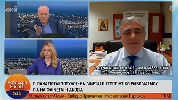 Γ. Παναγιωτακόπουλος - Αντιπρόεδρος ΕΟΔΥ – ΚΑΛΗΜΕΡΑ ΕΛΛΑΔΑ – 29/12/2020