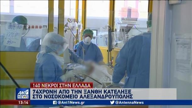 Κορονοϊός: κατέληξε ακόμη μία ασθενής από την Ξάνθη