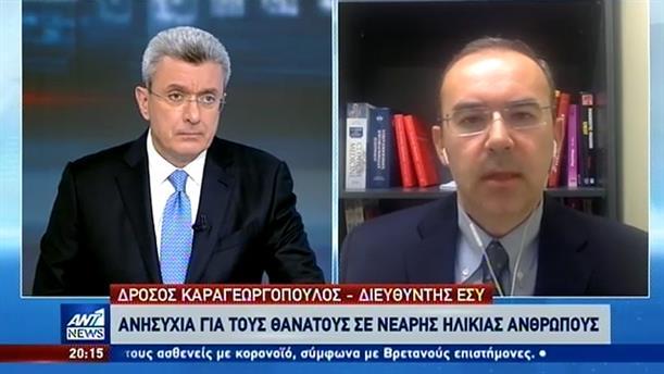 Κορονοϊός - Καραγεωργόπουλος στον ΑΝΤ1: το 25% όσων νοσηλεύονται είναι έως 50 ετών