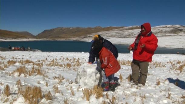 Xιόνια στη Βολιβία