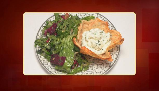 Φωλιές παρμεζάνας με κατσικίσιο τυρί και κρέμα γάλακτος του Γιώργου - ορεκτικό - Επεισόδιο 62