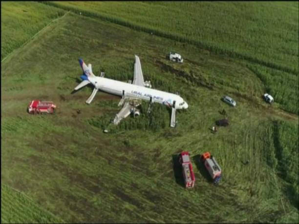 Το αεροσκάφος που έκανε αναγκαστική προσγείωση σε χωράφι από ψηλά