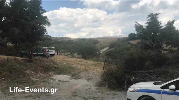Ερευνα της Αστυνομίας στην περιοχή όπου εντοπίστηκε η σορός, στην Θεσσαλονίκη