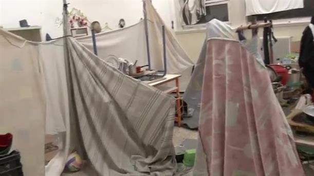 Επιχείρηση εκκένωσης κτιρίου στα Εξάρχεια - Οκτάβιου Μερλιέ και Πρασσά