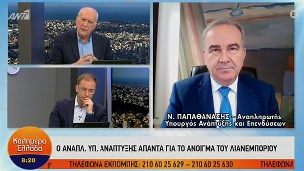 Νίκος Παπαθανάσης - αναπληρωτής Υπουργός Ανάπτυξης – ΚΑΛΗΜΕΡΑ ΕΛΛΑΔΑ - 01/02/2021