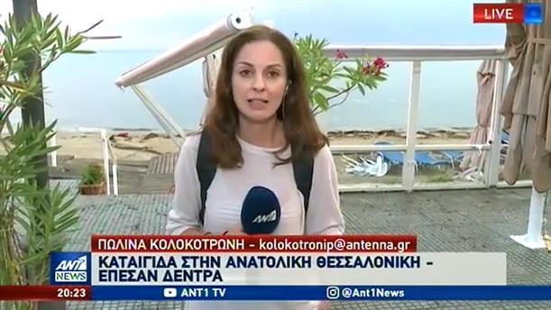 Ισχυρή καταιγίδα στην Θεσσαλονίκη