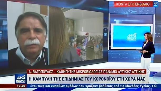 Κορονοϊός - Βατόπουλος στον ΑΝΤ1: πολλά τεστ στη αγορά δεν δίνουν αξιόπιστα αποτελέσματα